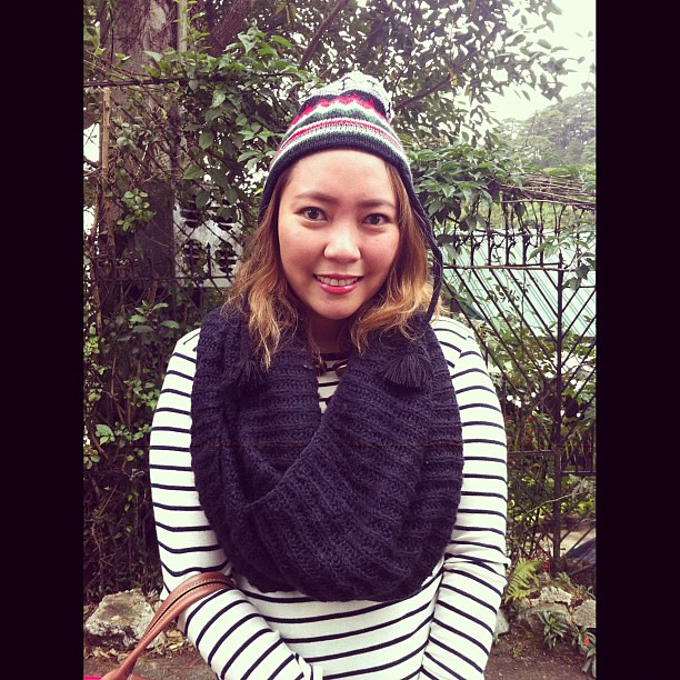 One of my favorite finds from 2011: #Forever21 knit scarf. Hello from Baguio! :) #ootd #ootdtravel #fashion #scarf #baguio #holidays2012
