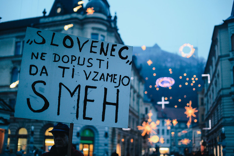Protest in Ljubljana