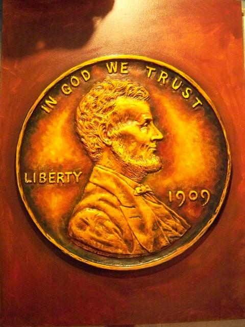 Giant 1909 Lincoln Cent art in progress 003