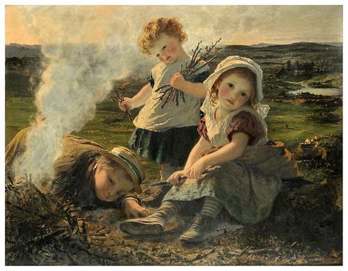 001-El buen fuego-Sophie Gengembre Anderson -via commons.wikimedia