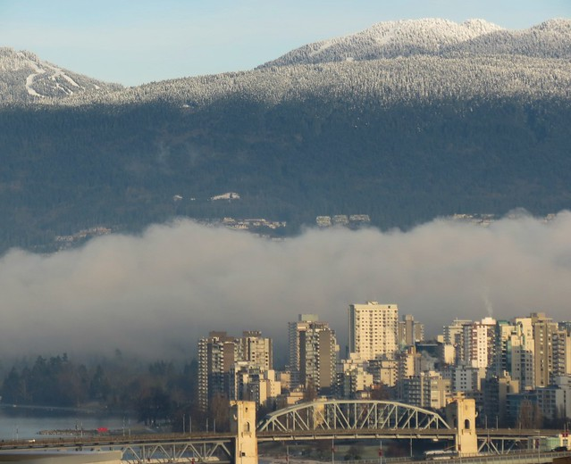 Morning Fog in Vancouver's Burrard Inlet