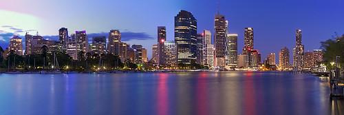 longexposure panorama reflection night river cityscape brisbane canonef24105mmf4lisusm