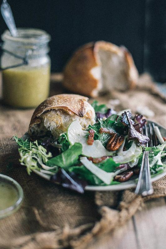 winter salad with bacon & caramel apple vinaigrette + food52 cookbook giveaway