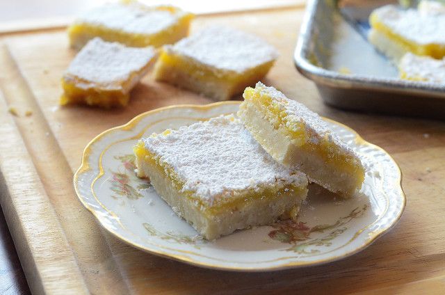 Mom's Lemon Bars served on a plate.