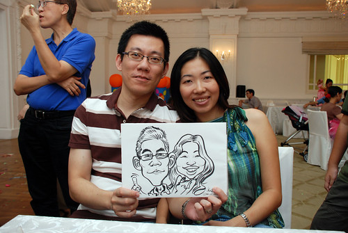 caricature live sketching for birthday party 28042012 - 13