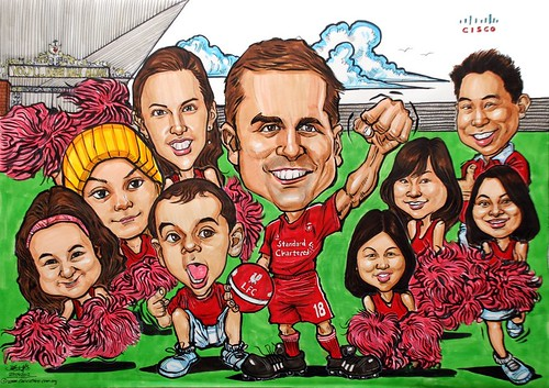 group caricatures for Cisco