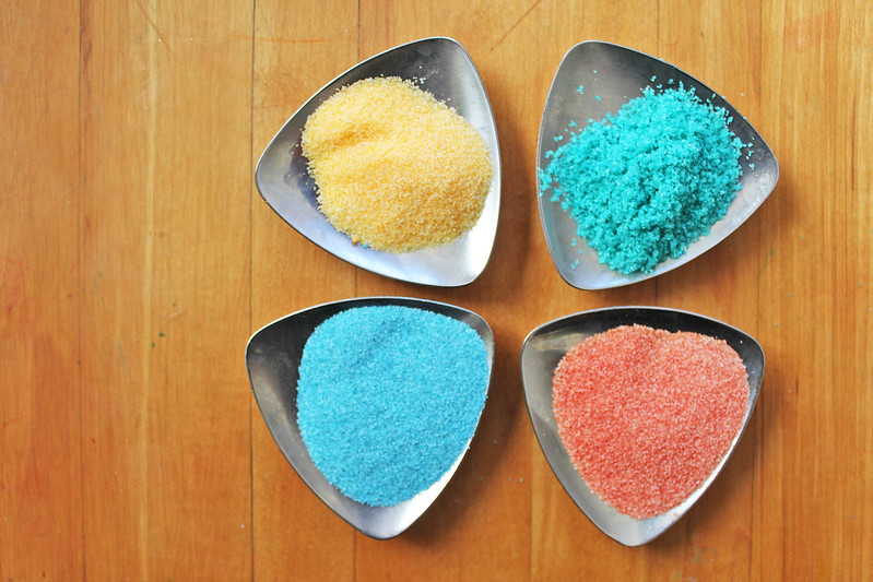 DIY Art Materials | Learn how to make colored salt for art and science projects. BONUS: six ideas for what to do with it!
