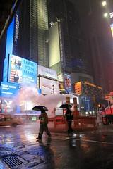 Rain on Times Square