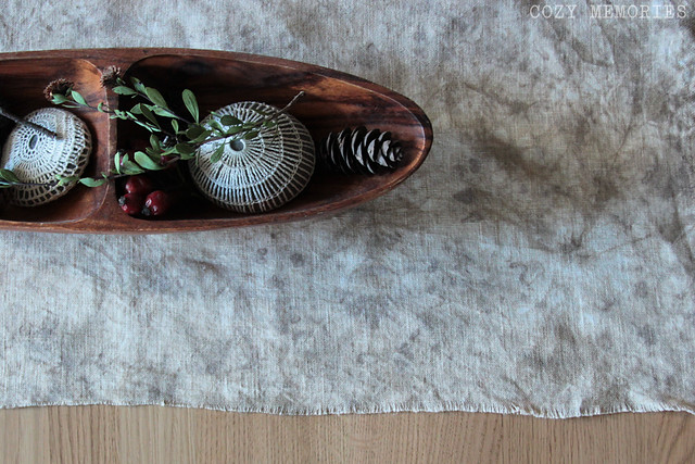 onion tie-dyed linen panel