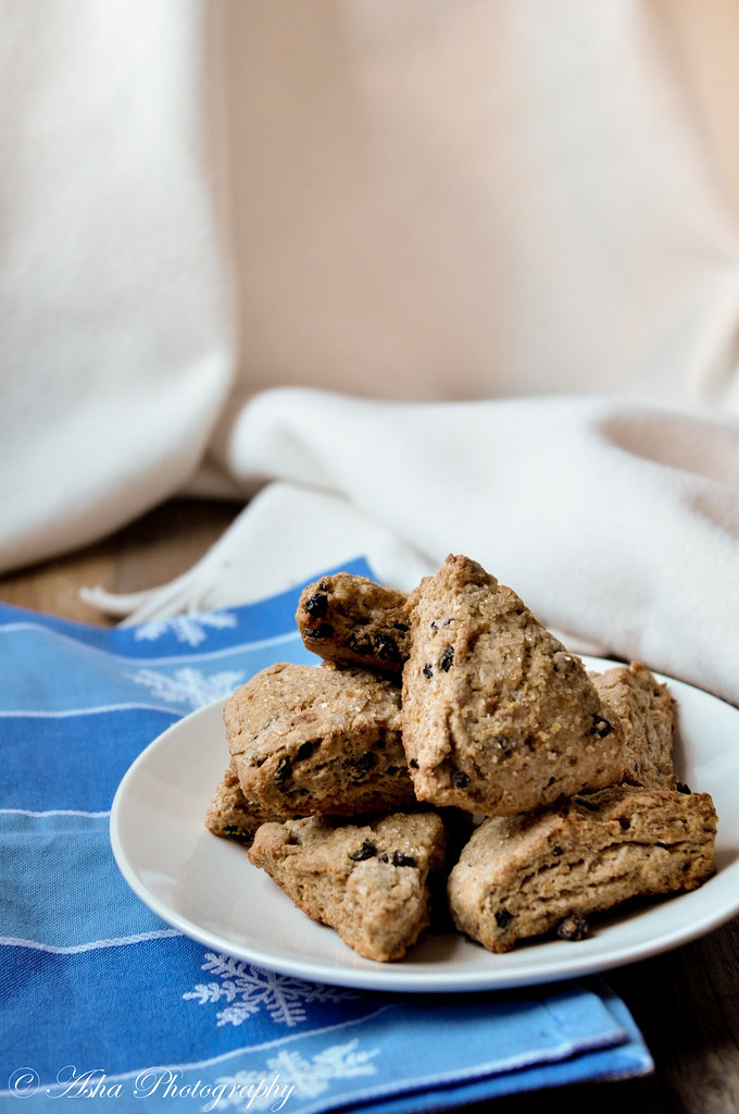 Whole wheat and Currant Scones