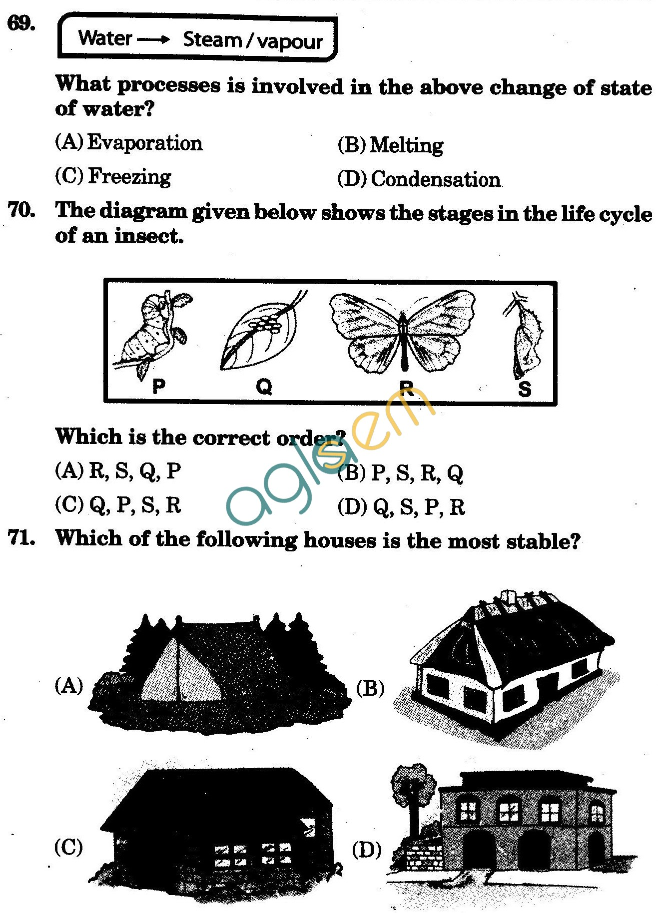 NSTSE 2010: Class IV Question Paper with Answers - Science