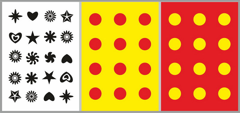 цветные картинки для развития внимания