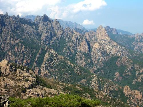 Le versant Est de la crête du Giru : Punta Samulaghja, Punta di Ferru, Punta Buvona, Punta Bunifazinca