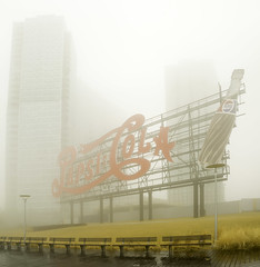 Pepsi Cola Sign Fog