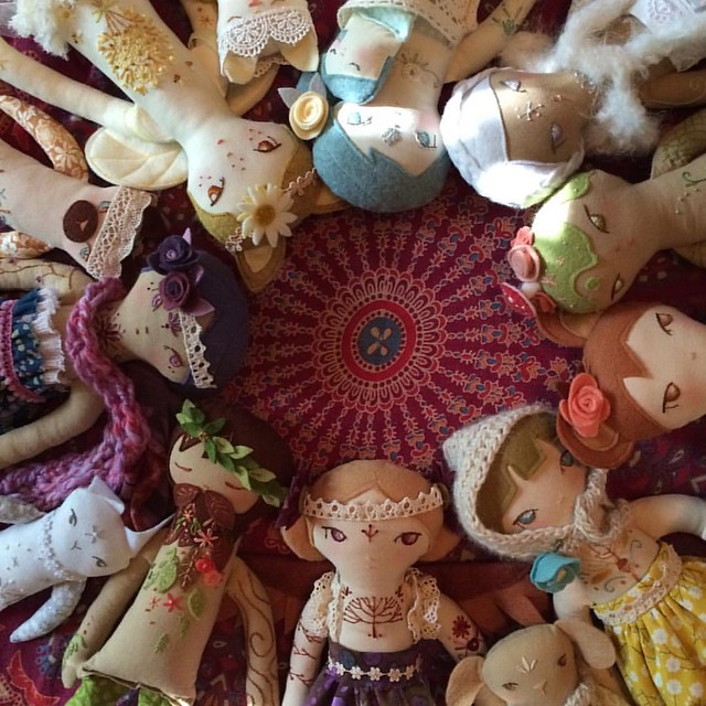 All the pretty faces #littledear #etsy #handmadedoll #handembroidery