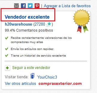 reputacion del vendedor de ebay