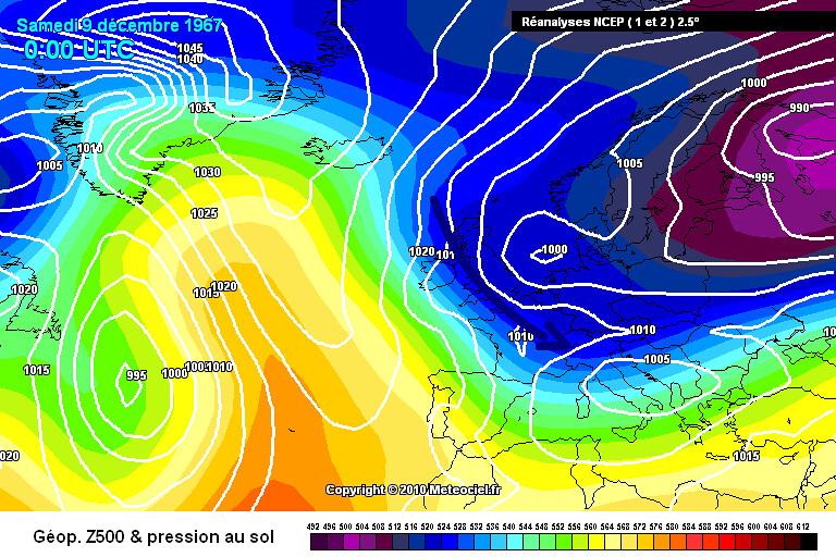 carte de situation du record de froid à Mouthe le 9 décembre 1967 météopassion