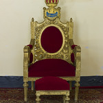 Throne of Sultan Alhadji Abba Mahamat Moussa, Kousseri, Cameroon