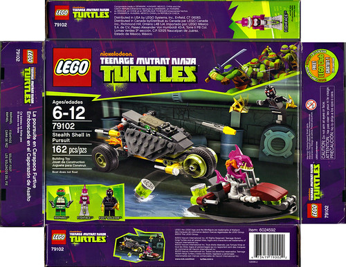 "LEGO Teenage Mutant Ninja Turtles :: ""Stealth Shell in Pursuit"" ..box i (( 2013 ))"