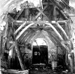 Dreuil-Hamel (église) charpente-basse