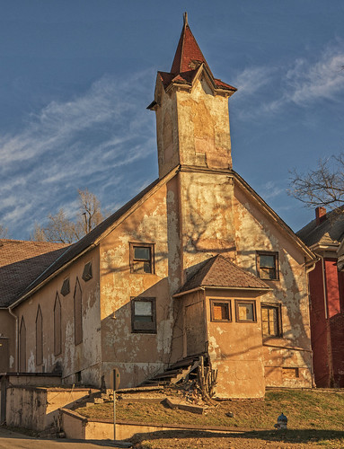 old winter sunset classic church sunshine clouds corner town midwest shadows sony hill memories roadtrip steeple explore forgotten missouri western fading roadside decayed stucco saintjoseph 2012 sentinel relic stjoe fotoedge bobtravaglione nex6 alphanex6