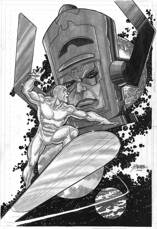 Silver Surfer and Galactus by George Perez