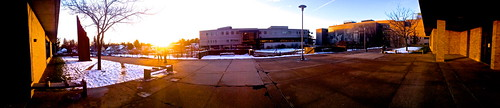 sunset campus view panoramic iphone4s