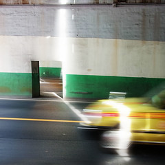 yellow taxi tunnel