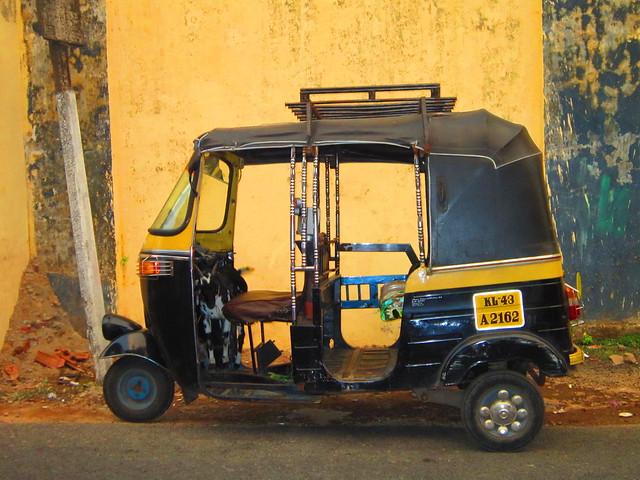 goat in tuktuk, Kochi