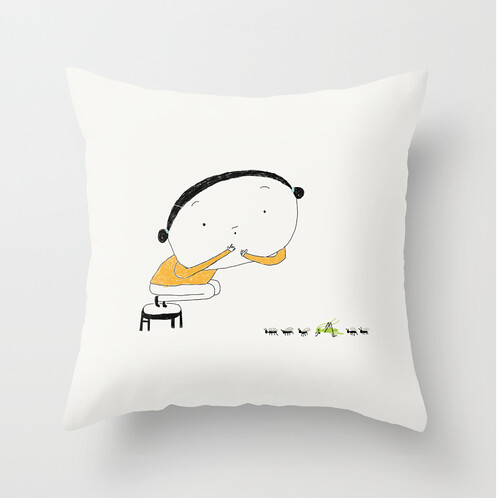 The cricket (pillow cover) by Yaelfran