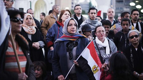 Egyptians demonstrate against the referendum on the draft constitution on December 18, 2012. The official results say that the Morsi government won the first round of the vote 56 to 44 percent opposed. by Pan-African News Wire File Photos
