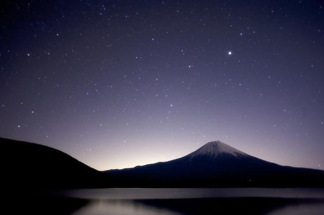 星空と富士山と田貫湖[explore]