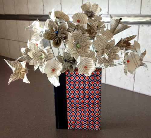 Folded Book Flower Bouquet