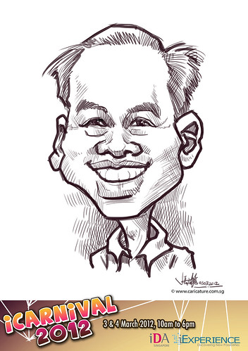 digital live caricature for iCarnival 2012  (IDA) - Day 1 - 1
