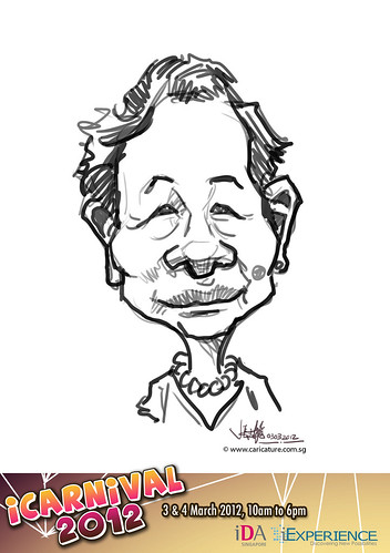 digital live caricature for iCarnival 2012  (IDA) - Day 1 - 11