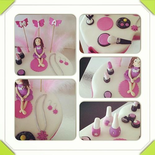 #8cake #makeupcake by l'atelier de ronitte