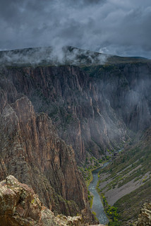 Stormy miasma over Black Canyon of the Gunnison