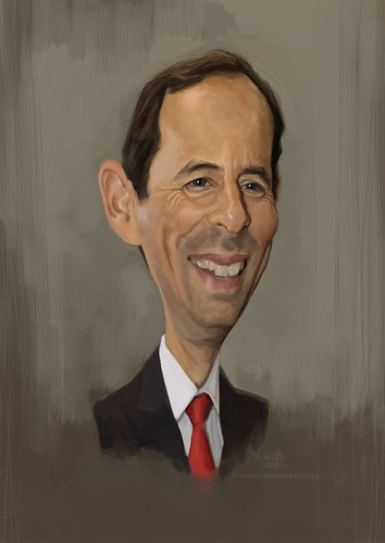 digital caricature of Gido van Praag for Hewlett Packard