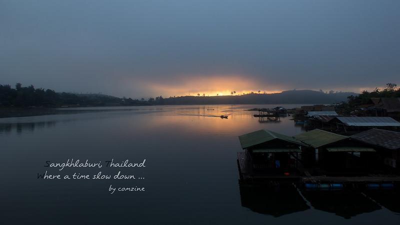 สะพานมอญ พระอาทิตย์ขึ้น - สังขละบุรี