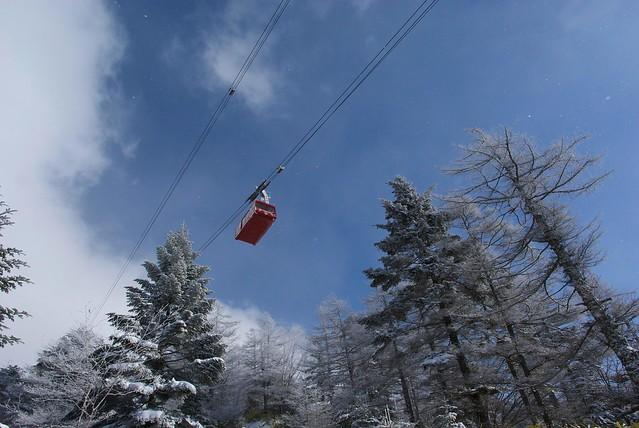 北八ヶ岳ロープウェイの冬期下山ルート