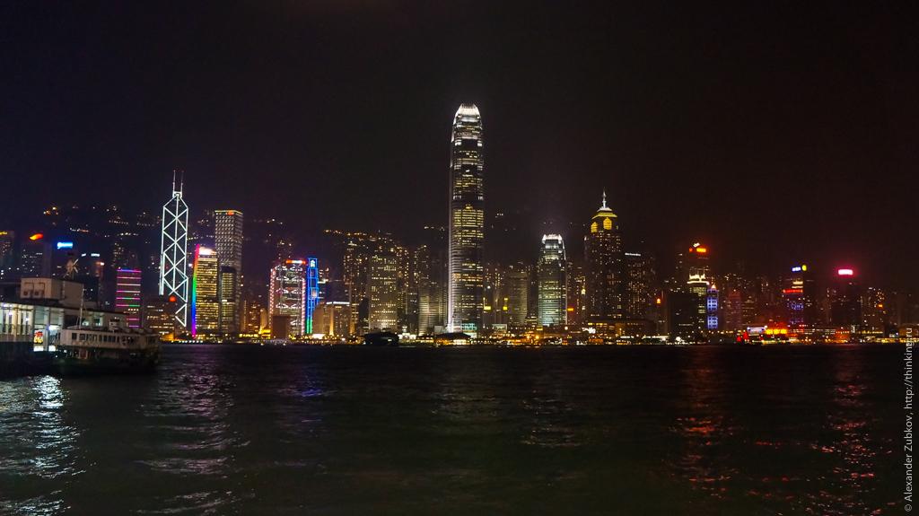 Ночная панорама Гонконга