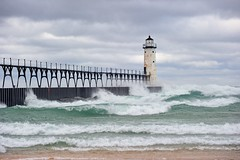 Manistee Breakwater Lighthouse Manistee, Michigan by Michigan Nut
