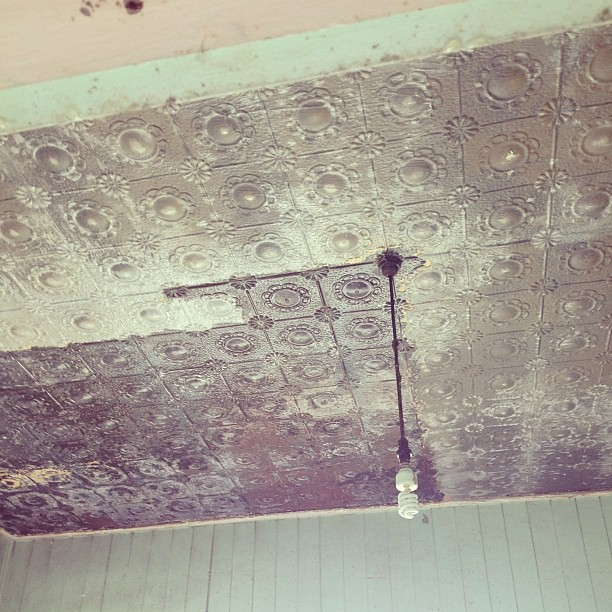 The pressed metal is coming up a treat. #theoldpostoffice