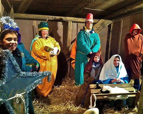 Nativity re-enacted