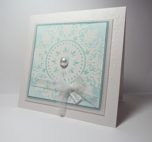 Medallion Wedding Card by Andrea G71