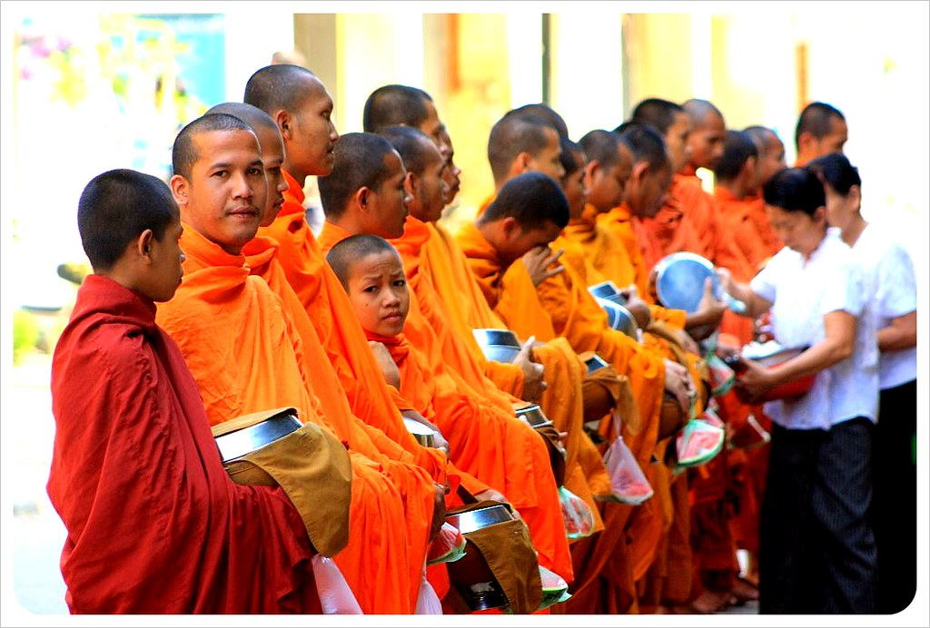 battambang alms giving ceremony