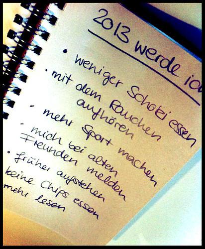 gute Vorsätze 2013