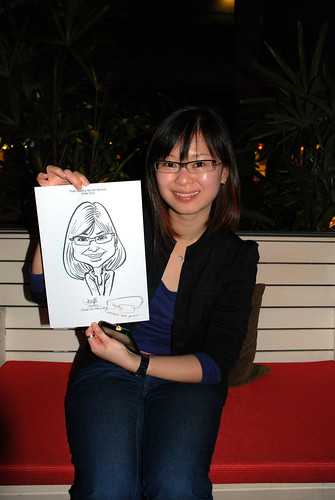 caricature live sketching for Kaleido Vision Pte Ltd Product Launch - 10