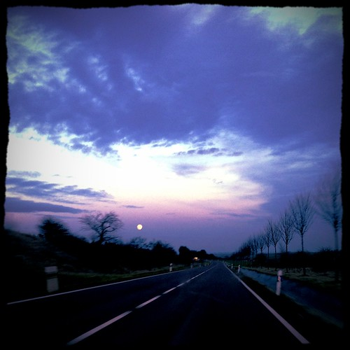 Heimfahrt. Drive home.