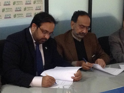 NPO collaborates with Mishal for improving Pakistan's global competitiveness ranking.